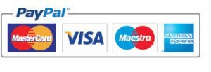 Take payment with Paypal or major credit cards